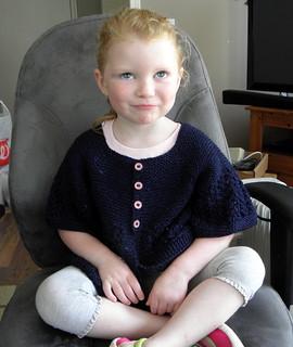 February Little Lady sweater - model