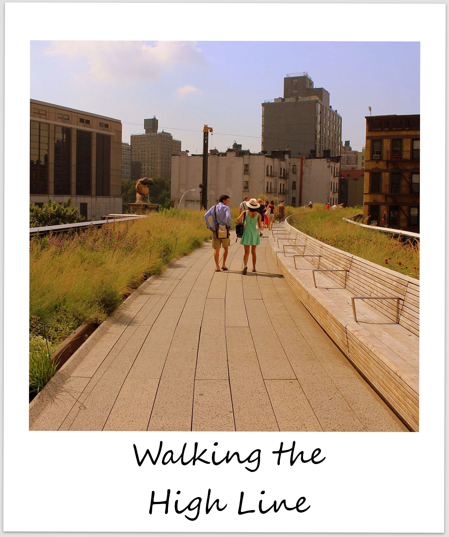 polaroid of the week usa new york high line park