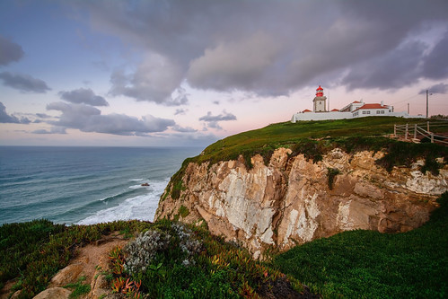 ocean sea sky cliff lighthouse portugal water clouds nikon waves atlanitic d5200
