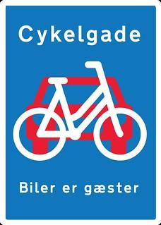 Cykelgade Signage - Fietsstraat