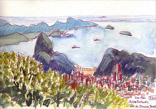 View from Christo Redentor, Rio de Janeiro, Brazil