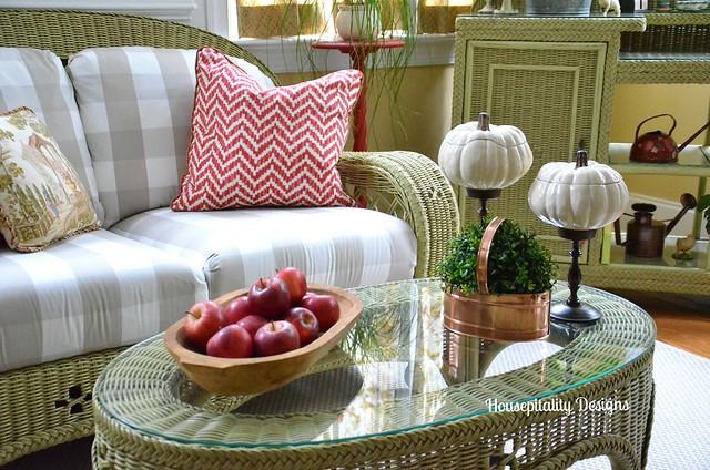 Fall Sunroom Vignette-Housepitality Designs