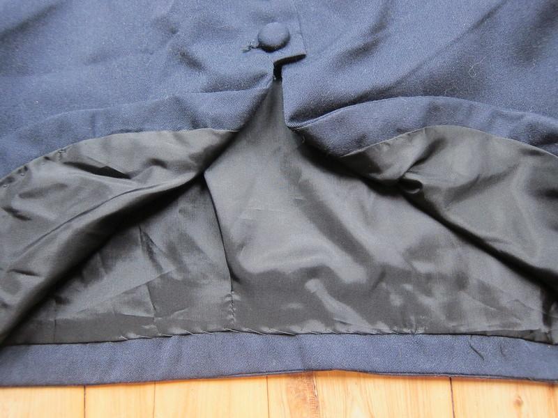 1940s repro sewing pattern free lining navy gaberdine jacket bolero