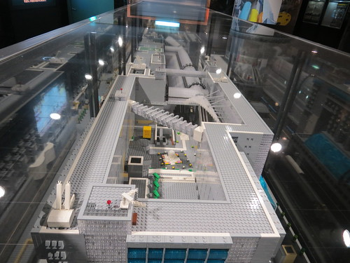Kyoto Station made from Lego