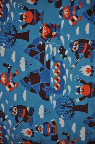 Blue Vikings interlock knit