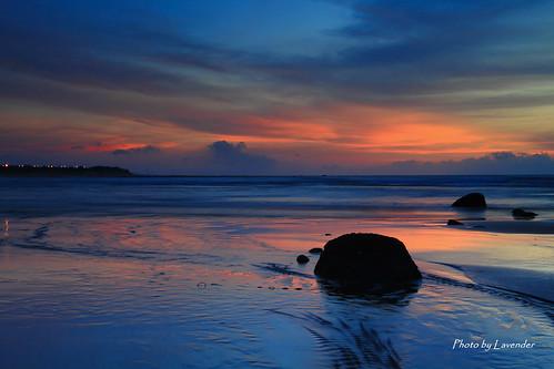 sunset taiwan 夕陽 台灣 淡水 沙崙 黑卡 色溫 新北市