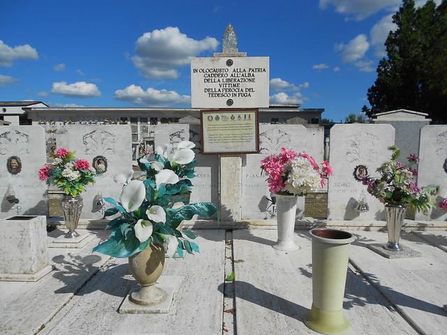Rappresaglia tedesca di Previere, martiri di guerra, 25 aprile 19, tombe, Ceregnano