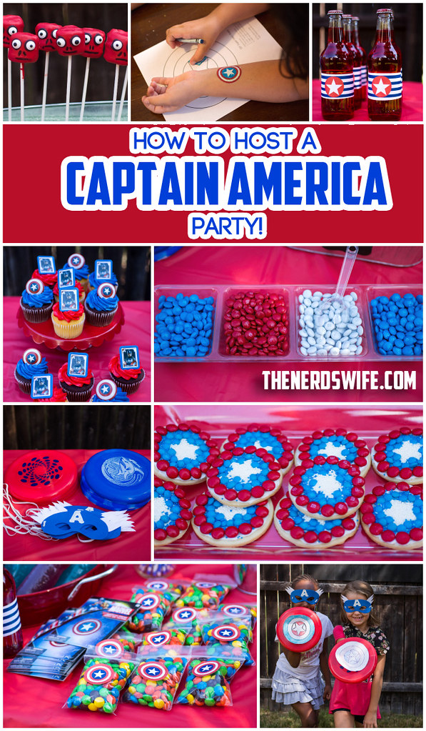 Captain America Party #HeroesEatMMs #Shop