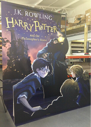 Life size cover Harry Potter and the Philosopher's Stone