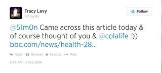 Tracy's ORS Tweet