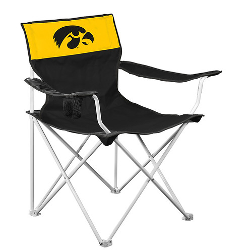 Iowa Hawkeyes Canvas TailGate/Camping Chair