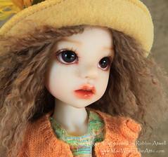 """Kaye Wiggs' """"Izzy"""" painted by Robbin Atwell, www.MadWifeInTheAttic.com"""