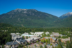 Aerial view of Whistler Village