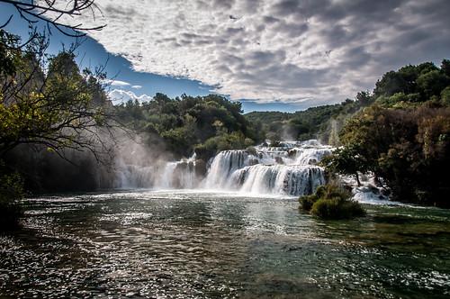 water waterfall croatia krka