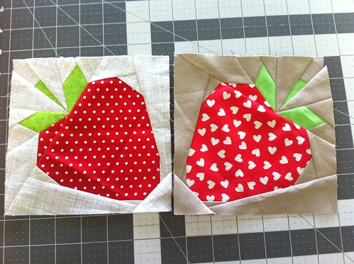 Strawberry blocks