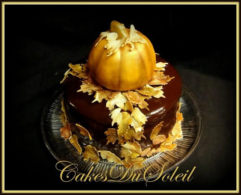 Gilded Autumn Cake
