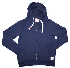 Mens Zip-Up Hooded Sweatshirt Navy Blue