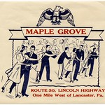 Originally posted on Ipernity: Maple Grove Roll Arena, Lincoln Highway, Lancaster, Pa.  'Maple Grove, Route 30, Lincoln Highway, one mile west of Lancaster, Pa.'  A roller skating rink label (or sticker, as they were usually called, although there's no adhesive on the other side) from the Maple Grove Roll Arena, which was part of Maple Grove Park, a now-defunct amusement park that was located along the Lincoln Highway just west of Lancaster, Pennsylvania.