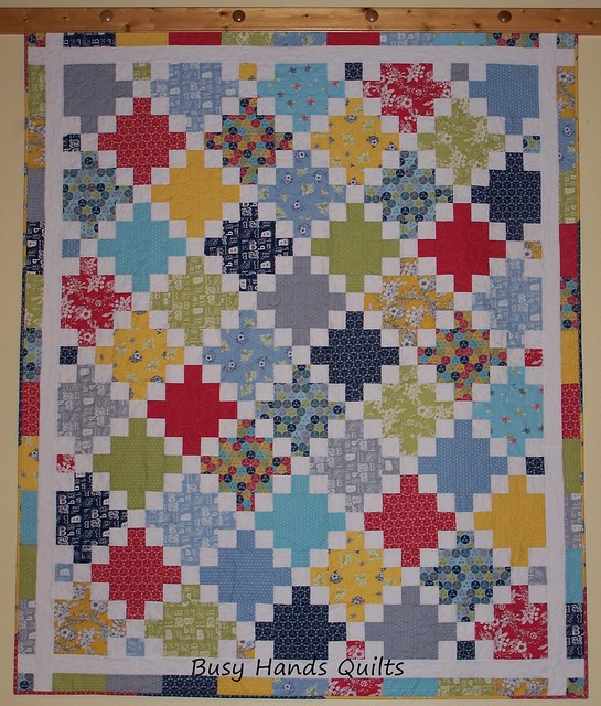 Twisted Irish Chain Lap Quilt