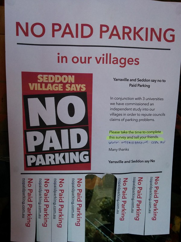 No Paid Parking campaign, Seddon