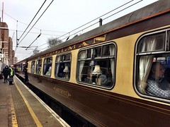 Pullman dining train stops at West Hampstead station on its way to Bristol!  Unfortunately not being pulled by steam.  #transportforlondon #westhampstead