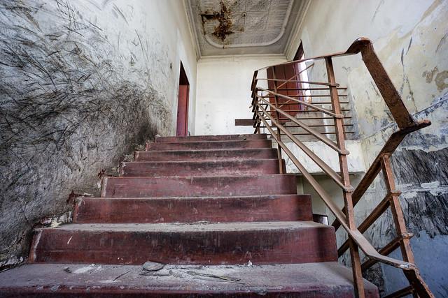 Derelict stairwell...