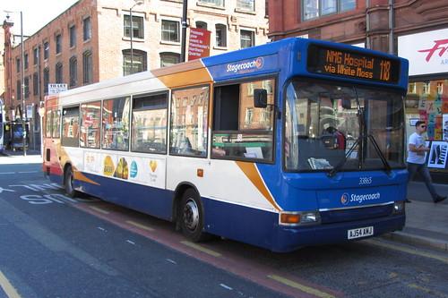 Dennis Dart SLF, AJ54 AMJ, Stagecoach Manchester, Stevenson Square, Manchester