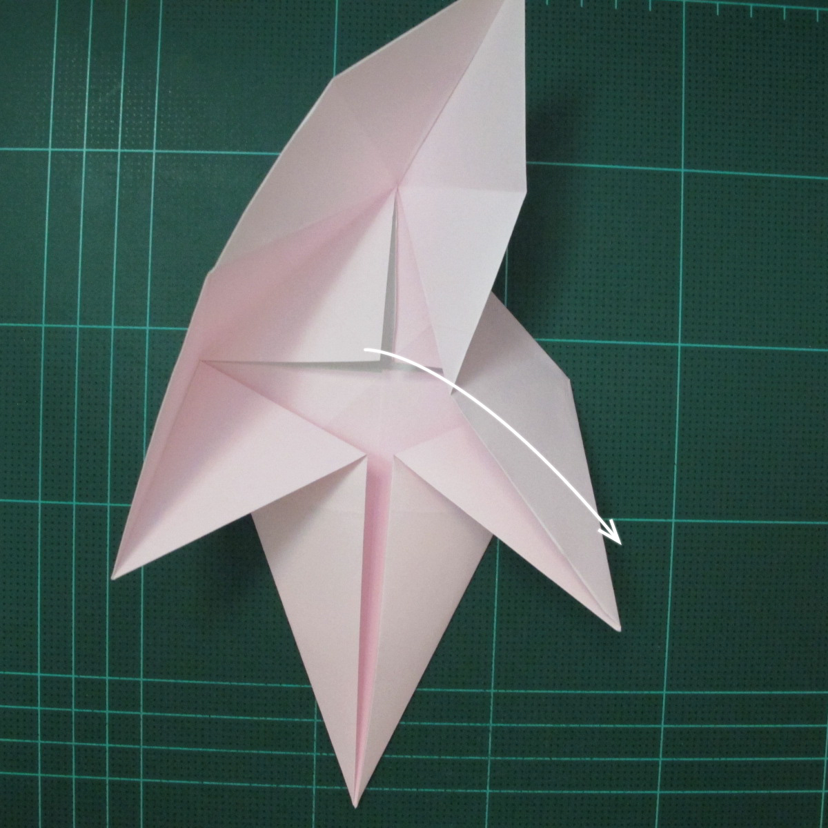 การพับกระดาษเป็นไดโนเสาร์ทีเร็กซ์ (Origami Tyrannosaurus Rex) 009