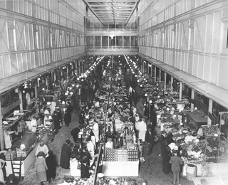 Photograph of the Interior of Center Market, 04/21/1923