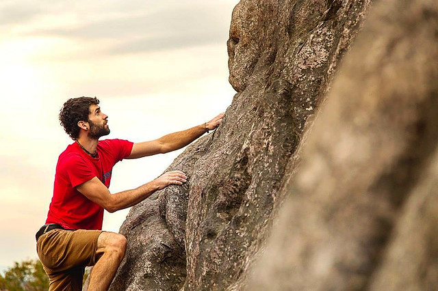 Bouldering is a big attraction for Grayson Highlands State Park