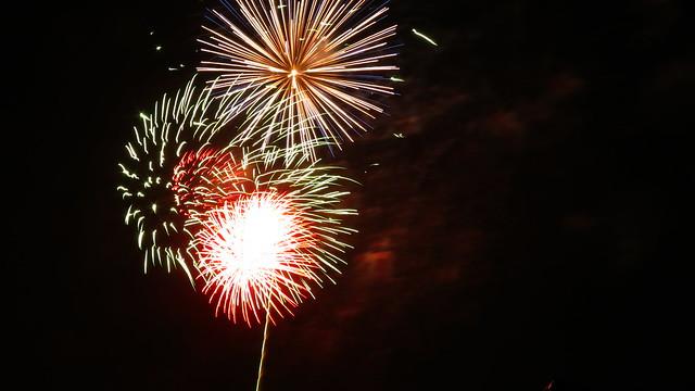 Tulsa's Freedom Fest Fireworks at Veteran's Park