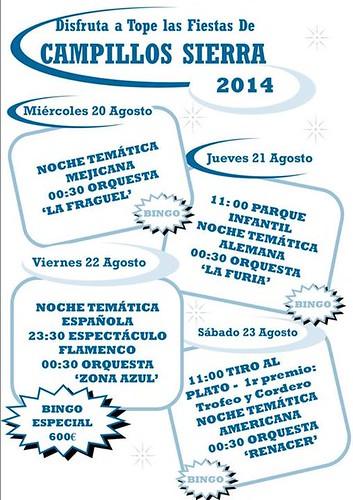 Cartel fiestas campillos sierra 2014