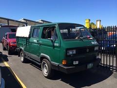 automobile, van, commercial vehicle, pickup truck, volkswagen, vehicle, volkswagen type 2 (t3), microvan, light commercial vehicle, land vehicle, motor vehicle,