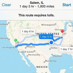 Almost finished with this drive... #TheStruggle