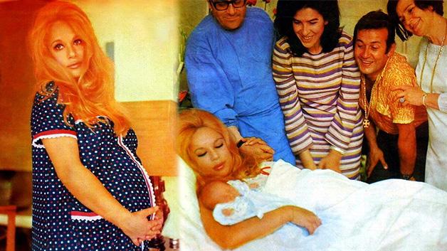 1969 - Αλίκη Βουγιουκλάκη έγκυος - μαιευτήριο - Γιάννης Παπαμιχαήλ