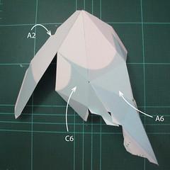 วิธีทำโมเดลกระดาษตุ้กตาคุกกี้รัน คุกกี้รสจิ้งจอกเก้าหาง (Cookie Run Nine Tails Cookie Papercraft Model) 002