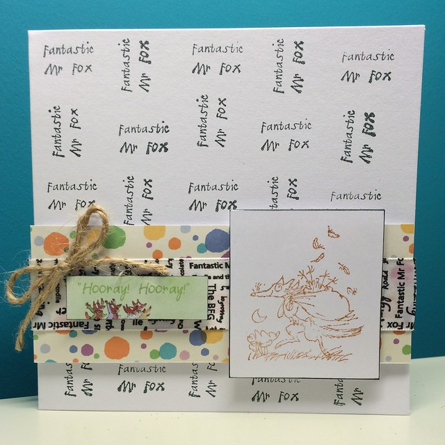 Roald Dahl cards - Fantastic Mr Fox card