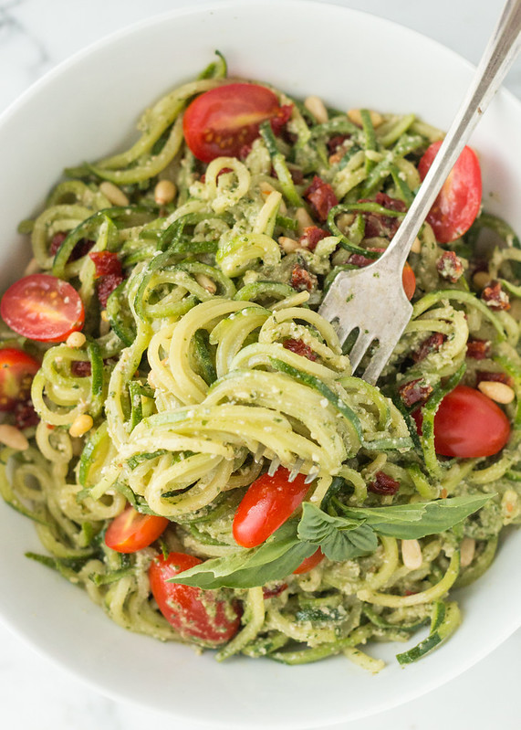 Zucchini Pesto Pasta (raw, vegan, gluten-free) | Will Cook For Friends