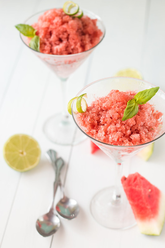 Watermelon & Basil Granita | Will Cook For Friends