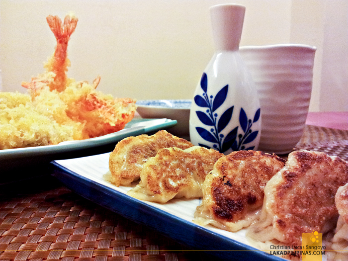 Tempura, Sake and Gyoza at Networld Hotel's Kaishu Japanese Restaurant in Manila