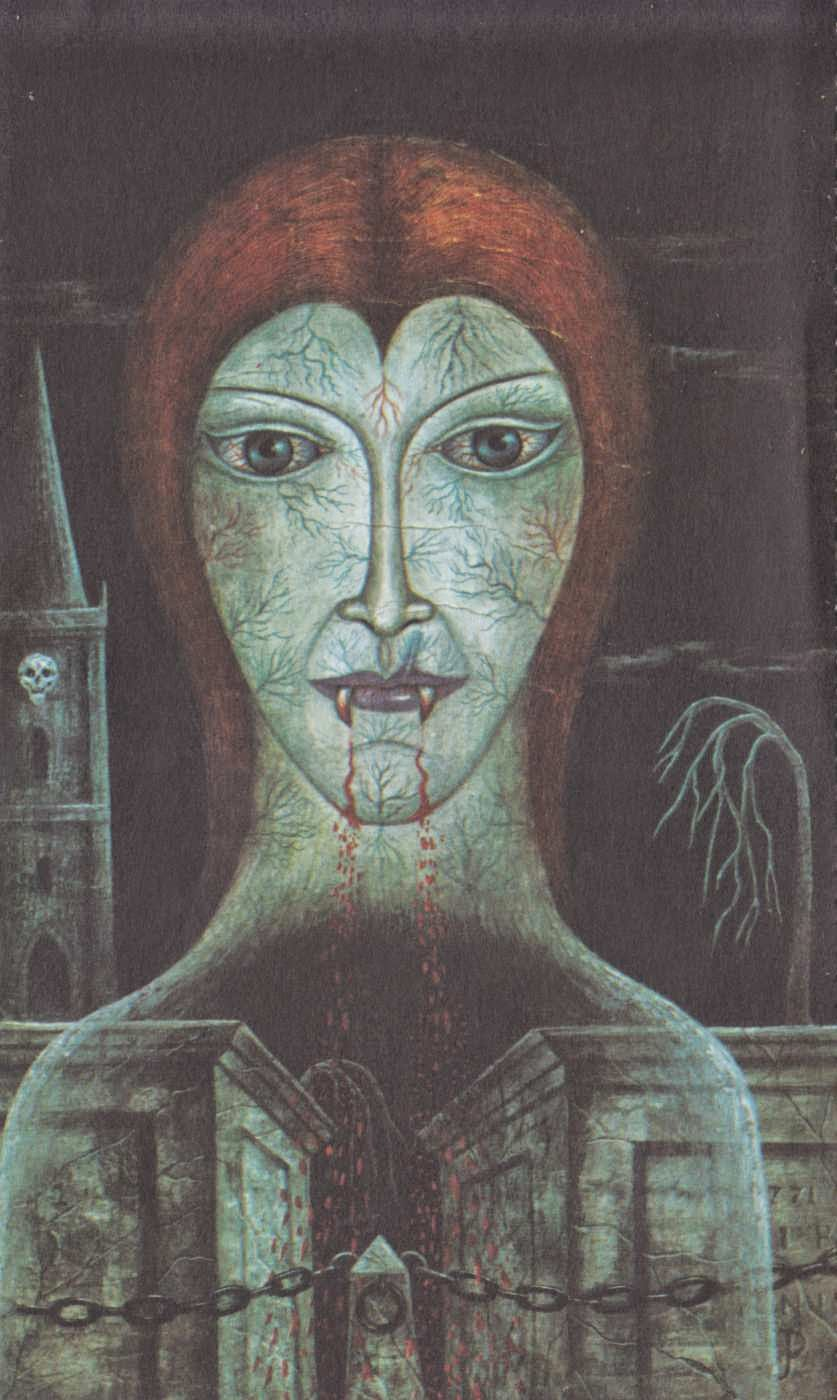 "Jan Parker - Painting from Peter Haining's "" Witchcraft and Black Magic"" 1971 (9)"