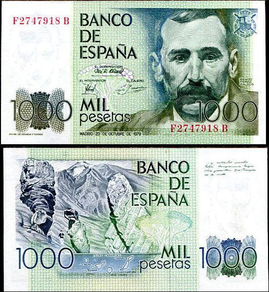 1000 Pesetas Španielsko 1979, Pick 1979