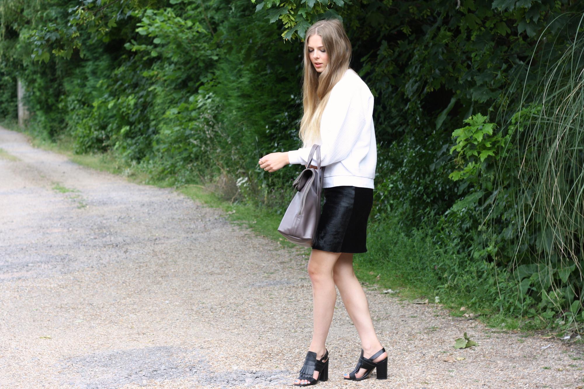 Topshop black fringed sandals