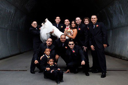 bride groom groomsmen