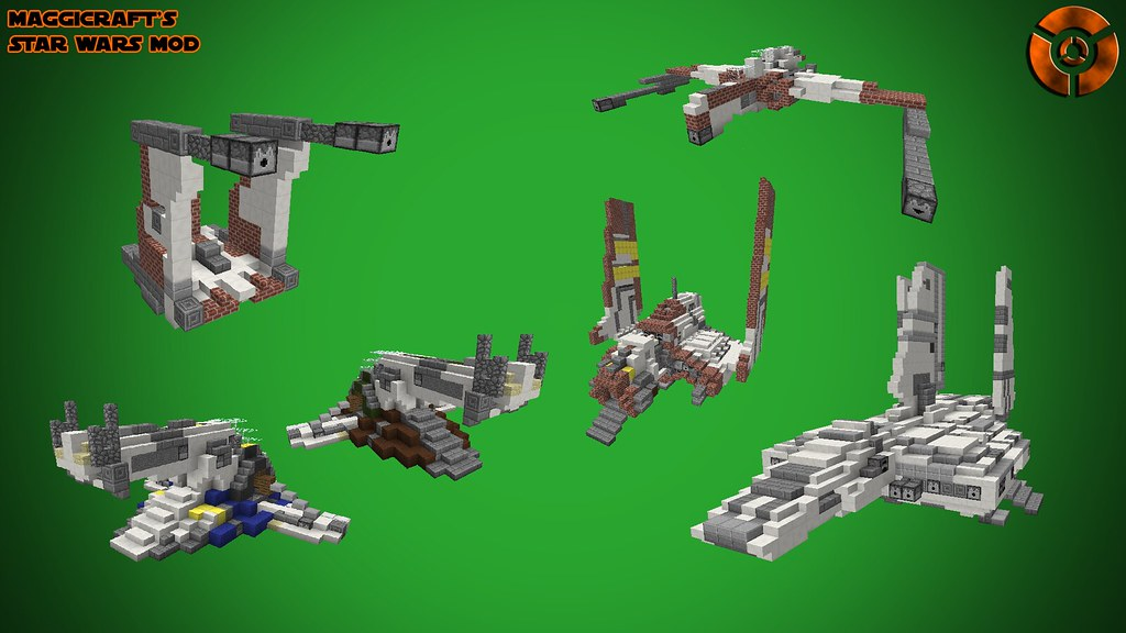 Populaire 1.7.10/Forge/16-512 Pixels] MaggiCraft's Star Wars Mod [Planets  UF48