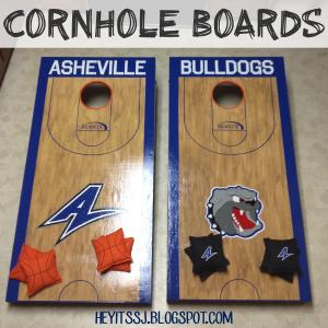 Custom Cornhole Boards Tutorial by Hey, It's SJ