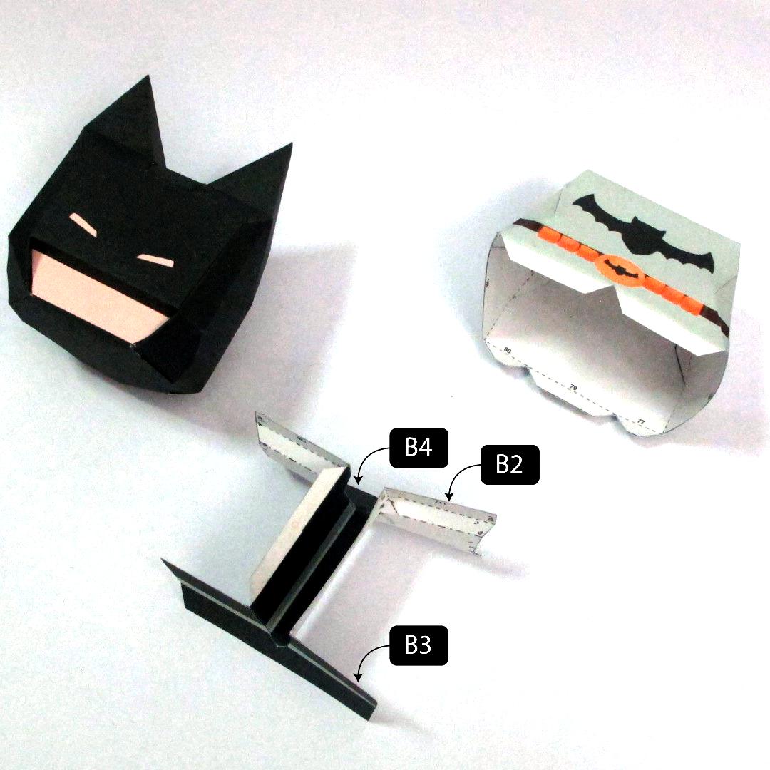 วิธีทำโมเดลกระดาษแบทแมน (Batman Papercraft Model) 013