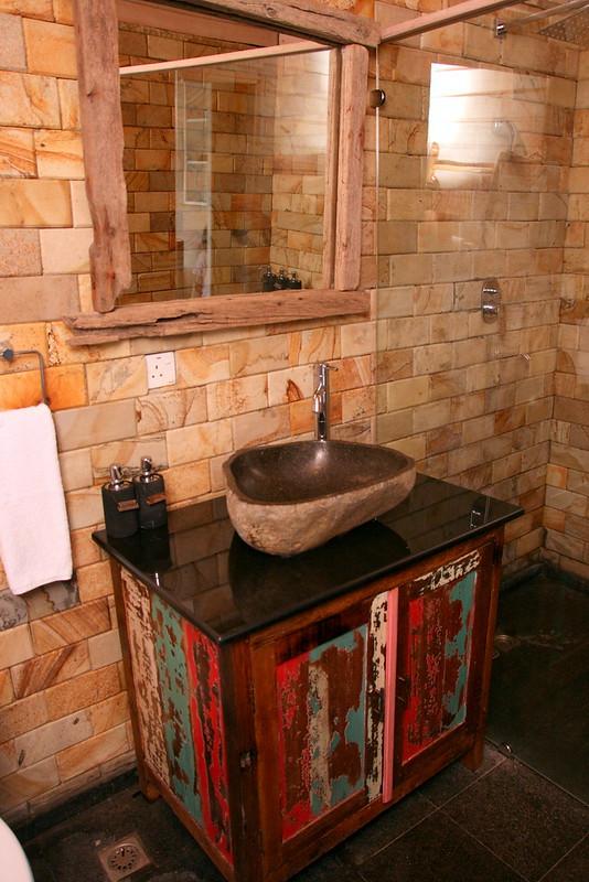 Bathroom in the sea villa