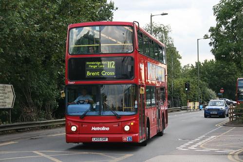 Metroline TA657 on Route 112, Brent Cross