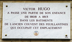 Photo of Victor Hugo marble plaque